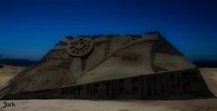 Sand Castle, Long Beach--in explore (beachpeepsrus) Tags: beach shore sky sand