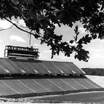 Carter-Finley Stadium, construction, press box and west stands; 1965/66