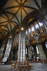 Inside Glasgow cathedral (18) (dddoc1965) Tags: dddoc davidcameronpaisleyphotographer glasgow cathedral necropolis landmark scotland october 7th 2016 cloudy precinct autumn yellow trees windows ceiling stone arcitech flags kenny game thrones