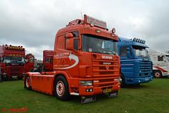 Scania 144L S. Van Holstein Transport' reg BH-SB-64 (erfmike51) Tags: scania144l artic v8 lorry truck svanholsteintransport swedefest2016