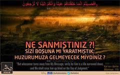 Kerim Kur'an - Muminun 115 (Oku Rabbinin Adiyla) Tags: allah kuran quran islam armageddon muslim judgmentday endoftheworld ayet verse bible holybible bholychrist holyquran quranverses god religion