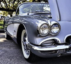 It's In the Eyes (Scott Sanford) Tags: 6d automibile canon car chrome classic ef2470f28l eos libertycounty outdoor shine sunlight texas topazlabs vintage 1960corvetteconvertible numbersmatching original
