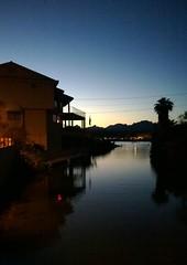 Reflections on the River (Ms. Jen) Tags: light arizona house water reflections river dark evening twilight dusk palmtrees coloradoriver parker lumia lumia1020 nokialumia1020 moovalyakeys