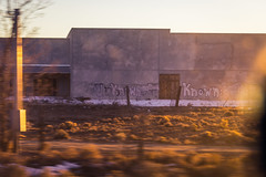 Unknown Known (jayRaz) Tags: snow newmexico building abandoned graffiti war driving quote political protest vandalism spraypaint taos nm rumsfeld distance donaldrumsfeld outthewindow