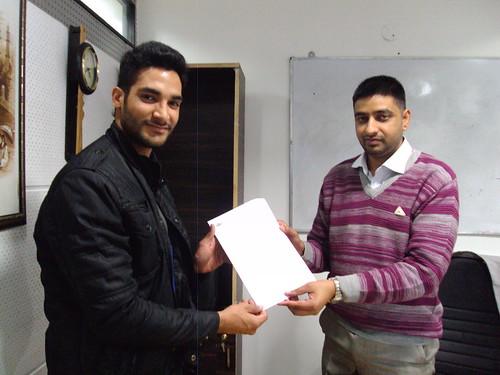 Rajat Saini Receiving Australia Study Visa From Director