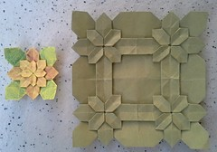Hydrangea Tessellation Testfolds (modular.dodecahedron) Tags: crayon origamitessellation shuzofujimoto squaregrid
