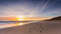 footprints (hawk@dog) Tags: uk light sea england sky sun beach clouds sunrise canon reflections sand exposure lee filters 1740 hartlepool foorprints ef1740 lee09gnd canon6d hawkdog