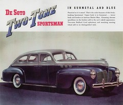 1940 DeSoto Custom Two-Tone Sportsman 4-Door Sedan (aldenjewell) Tags: door blue two sedan 4 1940 custom brochure tone desoto sportsman bimini gunmetal