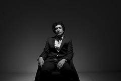 Halsman Inspiration (pellegrino.guido) Tags: bw inspiration black serious negro suit corbata tribute saco traje asesino serio suspicious suspect sospecha halsman inspiracin cenital sospechoso philippehalsman