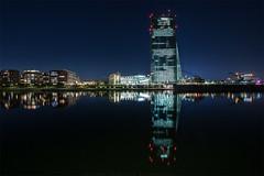 Osthafen Ffm (thorsten_fr) Tags: water night lights frankfurt main cityscapes ezb osthafen