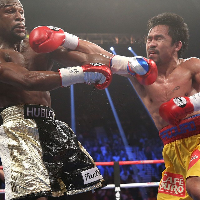 FLOYD #MAYWEATHER VS. MANNY #PACQUIAO WILL NOW BE SEEN IN SPACE👽  For the first time ever, a pay-per-view blockbuster world championship fight will be seen in space, as #SHOWTIME Sports®  and #HBO Sports®  have partnered with #