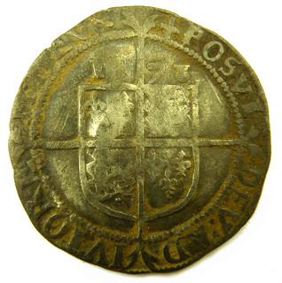 Elizabeth I sixpence 1573 AD rev