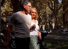 Via Veneto (Kyre Wood) Tags: street italy woman man rome roma make up holding couple hand via blonde veneto