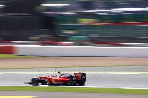Sebastian Vettel in his Ferrari in the 2016 British Grand Prix