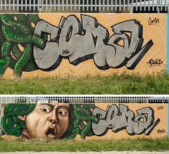Medusa (aeroescrew) Tags: wall graffiti medusa perugia coma 2016 aeroes aeroescrew