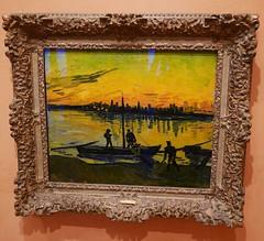 Vincent Van Gogh : Evening Landscape, 1885. (neppanen) Tags: madrid art museum painting spain vincent vangogh maalaus vincentvangogh taide espanja thyssenbornemisza kuvataide thyssenbornemiszamuseum discounterintelligence maalaustaide sampen