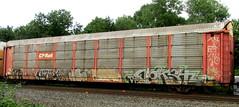 debt - vizie - jase - kose - nekst (timetomakethepasta) Tags: cprail autorack freight train graffiti ttgx nekst dts kose htf jase ba vizie a2m debt