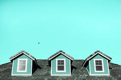 Three All-Seeing Eyes (Brooke Wrightt) Tags: windows urban architecture fineart cyan symmetry minimal minimalism fineartphotography creativephotography