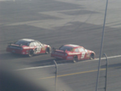 43  Carl Edwards and Kasey Kahne comming into pits in the Daytona 500 (Bravehardt) Tags: nascar sprint cup series carl edwards 99 ford fusion office depot discount tire citi champion spark plugs dish network sherman williams paint foray ativa gillette young guns aflac claritin valvoline oil vitamin water ritz kasey kahne 9 dodge charger budweiser dealers freightliner trucks allstate insurance stanley tools fatmax 25 siemans bosch daytona 500 daytonainternational daytonabeach florida