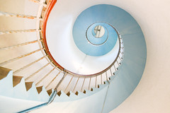 Going up (Fraila) Tags: lyngvig fyr lighthouse jylland denmark stairs spiral spiralstaircase turkis vesterhavet architecture arkitektur nikon d600 nikkor2485vr
