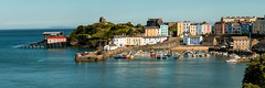 Wales - Tenby (Keith in Exeter) Tags: wales tenby pembrokeshire coast sea harbour fishing boats castle houses pastel landscape panorama seascape uk outdoor photomerge
