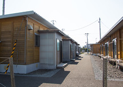 Temporary housing occupied by those displaced by the tsunami, Fukushima prefecture, Tomioka, Japan (Eric Lafforgue) Tags: house home ecology japan horizontal night danger outdoors unsafe dangerous earthquake construction energy asia risk homeless environmental radiation nobody nopeople forbidden tsunami pollution disaster housing environment radioactive shack radioactivity copyspace shelter emergency temporary atomic fukushima hazard recovery atom victims catastrophe exclusion contamination contaminated daiichi tomioka 0people nuclearaccident fukushimaprefecture irradiate colourpicture nuclearindustry fukushimaexplosion japan161835