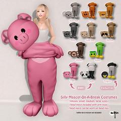 NYU - Silly Mascot-On-A-Break Costumes (Gacha/Epiphany) (NyuNyu Kimono, NYU!) Tags: life cute costume funny break mascot secondlife second nyu epiphany