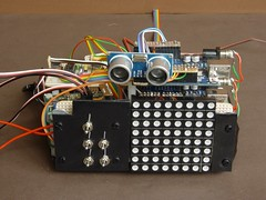 Omnibot Brain Transplant (wcrpaul) Tags: robot omnibot arduino uno cd4051 veroboard sp0256 te174 hcsr04 rgbled pwm servo scon speechsynthesis sensor ultrasonic controller mikehawkins paulbackhouse robotbrain switch microcontroller sb022s sequencer vero wires circuit droid technology
