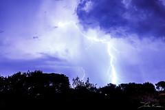 Provenal Lights II. (Tristan K.) Tags: clair lightning thunder tonnerre orage storm weather tempest tempte clouds nuages sky ciel flash shadow ombres night nuit nocturne roquebrunesurargens rocherderoquebrune lights