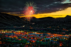Durango Western Fireworks (howardignatius) Tags: sunset fireworks co durango 2016 4thcelebration