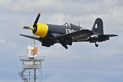 Takeoff 1, Goodyear FG-1D Corsair, KD345 (88297), Farnborough Airshow, 2016 (Peter Cook UK) Tags: show 1 d air hampshire airshow 1d corsair chance farnborough goodyear fg 2016 vought fg1d kd345 88297