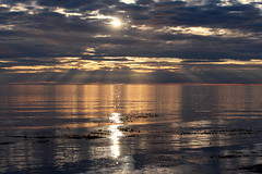Bonnie morning (calzer) Tags: morning sea weather clouds sunrise canon scotland early view july calm tuesday bonnie moray firth lossie