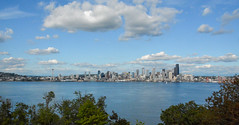 Blue sky over Seattle (US Department of State) Tags: seattle sky skyline architecture landscapes cityscape landmarks washingtonstate