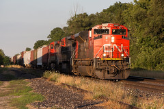 CN M399 CN 8862 W at Mile 49.1 Dundas Sub (railroadcndr) Tags: cn cnr canadiannational cndundassub woodstock ontario canada cnwoodstock cnm399 cn8862 emcc sd70m2 freight train engine locomotive track tracks railroad railway station signal switch siding