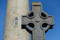 Window and Cross (gabi-h) Tags: glasnevincemetery dublin window cross celticcross tower gabih ireland bluesky memorial oconnelltower