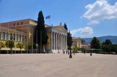 Zappeion (tonyfernandezz) Tags: building square flag greece athens
