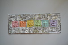 Once Inspired ~ We Create (Jayne ~ Twiggy & Opal) Tags: trapunto wallhanging quilt rainbowquilt freemotionquilting