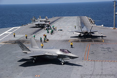 F-35C DT-III testing aboard USS George Washington (JetImagesOnline) Tags: lockheed martin joint strike fighter f35 f35c lightning ii uss george washington dtiii stealth navy variant aircraft carrier cvn73