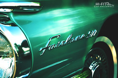 Fairlane Style (Hi-Fi Fotos) Tags: ford fairlane 500 badge emblem logo green chrome classiccar detail vintage chromeography nikkor 40mm micro nikon d5000 hififotos hallewell