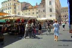 Campo de fiori (Cristian Mauriello) Tags: roma rome italia italy campo de fiori urban city street mercato market marketplace color people piazza square monument tourism yellow open