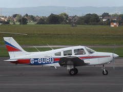 G-GURU Piper Cherokee Warrior 28 (Aircaft @ Gloucestershire Airport By James) Tags: gloucestershire airport gguru piper cherokee warrior 28 egbj james lloyds