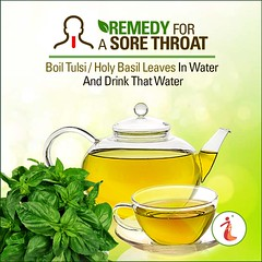 Remedy For A Sore Throat (ihp.pune@ymail.com) Tags: sorethroat homeremedy tulsi