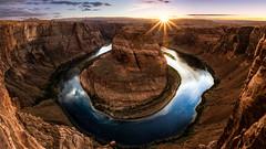 Horseshoe Bend (Zach Tyler) Tags: arizona horseshoebend landscapes nature sunset southwest river canyon blue orange rocks sky canon