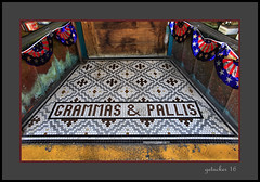 Tile Entry at Lindells (the Gallopping Geezer 3.8 million + views....) Tags: tile entry store storefront lindells chocolateshop icecream food drink dine resturant name grammas pallis lakelinden mi michigan upperpeninsula smalltown backroads rural country business roadtrip canon 5d3 tamron 28300 geezer 2016