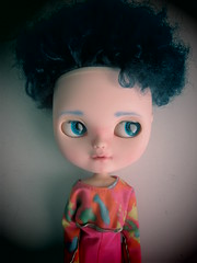 Ground Control to Major Tom (Blythe Spa Time) Tags: boy man guy carved doll afro side 80s customized blythe icy eighties clone fellow glance eyebrows liccabody compled