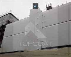Knightsbridge accomodation scaffold screening - Tufcoat Shrink Wrap