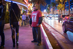 Profile of an Escort Promoter (Alex E. Proimos) Tags: las vegas portrait sex cards workers nevada mexican teen strip illegal worker prostitutes casinos immigrant strippers handing promoter escorts