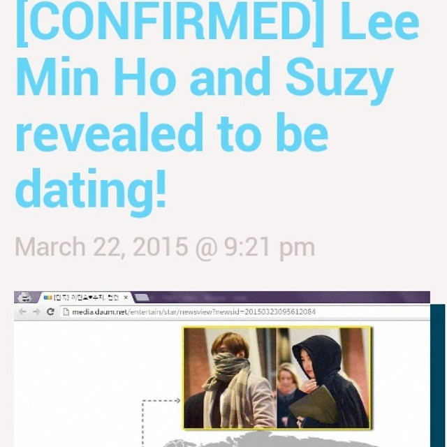 "@allkpop: [CONFIRMED] Lee Min Ho and Suzy revealed to be dating! http://t.co/iC9FB1fNW8 http://t.co/lsgNVdO4pU"" ha..ha..ha..dapet bekas KSH."