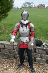 Metal Armor Sword Fighting (efusco) Tags: mail plate medieval sword fighting polearm armorlincolnlibrary