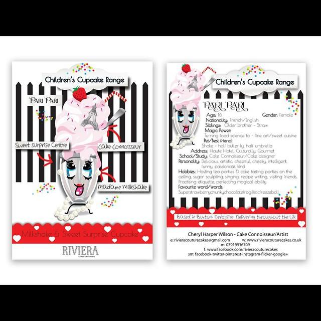FOR SALE TODAY AT THE HOME BOUTIQUE SHOP, BUXTON. Milkshake & sweet surprise cupcake- PARI PARI CUPCAKE -£3.00 each 🎂🎉💝 Idea/creation - Cheryl Harper Wilson/Mia wilson/ Paris Wilson  Drawn by - Paris Wilson Written profile by - Mi